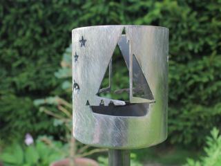 Bild Gartenfackel Segelboot