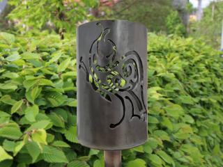 Bild Gartenfackel Schmetterling Admiral