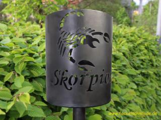 Bild Gartenfackel Sternzeichen Skorpion
